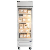 Beverage-Air RB23HC-1G 27 inch Vista Series One Section Glass Door Reach-In Refrigerator - 23 cu. ft.