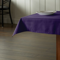 Intedge 36 inch x 36 inch Square Purple 100% Polyester Hemmed Cloth Table Cover