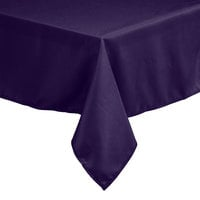 Intedge 45 inch x 120 inch Rectangular Purple 100% Polyester Hemmed Cloth Table Cover