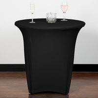 Snap Drape CN420R3030014 Contour Cover 30 inch Round Black Spandex Table Cover