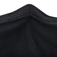 Snap Drape CN420R6630014 Contour Cover 66 inch Round Black Spandex Table Cover