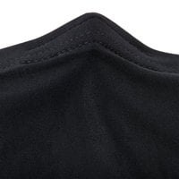 Snap Drape CN420R4830014 Contour Cover 48 inch Round Black Spandex Table Cover