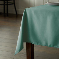 Intedge 54 inch x 72 inch Rectangular Seafoam Green 100% Polyester Hemmed Cloth Table Cover