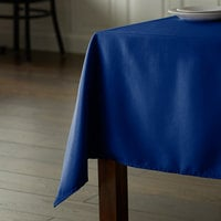 Intedge 64 inch x 120 inch Rectangular Royal Blue 100% Polyester Hemmed Cloth Table Cover