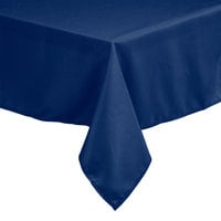 Intedge 72 inch x 120 inch Rectangular Royal Blue 100% Polyester Hemmed Cloth Table Cover