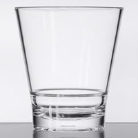 GET S-11-CL Revo 12 oz. Customizable SAN Plastic Stackable Double Rocks / Old Fashioned Glass - 24/Case