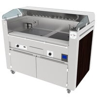 Kaliber Innovations MC-59-FPS-G2-R3 Valere Series Mobile Induction Griddle and Range Combo Cooking Station
