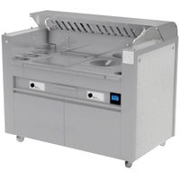 Kaliber Innovations MC-59-FPS-G2-W2 Valere Series Mobile Induction Griddle and Wok Range Combo Cooking Station