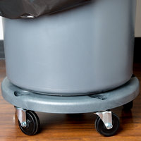 Lavex Janitorial Commercial Round Trash Can Dolly