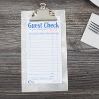 Menu Solutions CLIPCHECK-AL-SWIRL Alumitique Single Panel Aluminum Clipboard Menu / Check Presenter with Swirl Finish - 5 inch x 9 inch