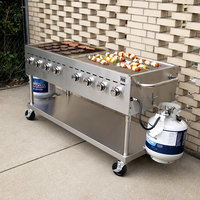 Backyard Pro C3H860 60 inch Stainless Steel Liquid Propane Outdoor Grill