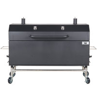 Backyard Pro 554SMOKR60KD 60 inch Charcoal / Wood Smoker Grill with Adjustable Grates and Dome