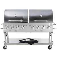 Backyard Pro C3H860DEL Deluxe 60 inch Stainless Steel Outdoor Grill with Roll Dome and Cover