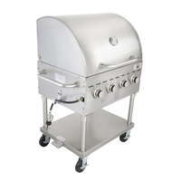 Backyard Pro C3H830DEL Deluxe 30 inch Stainless Steel Liquid Propane Outdoor Grill with Roll Dome and Vinyl Cover