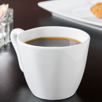 10 Strawberry Street P4218C Izabel Lam Pearls 8 oz. Bright White Porcelain Bistro Cappuccino Cup - 18/Case