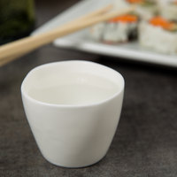 10 Strawberry Street P4220 Izabel Lam Pearls 2 oz. Bright White Porcelain Sake Cup - 12/Case