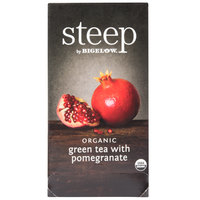 Steep By Bigelow Organic Green Tea with Pomegranate Tea Bags - 20/Box