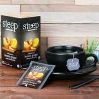 Steep By Bigelow Organic Lemon Ginger Herbal Tea Bags - 20/Box