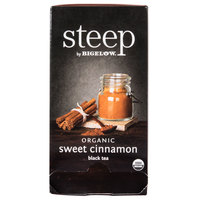 Steep By Bigelow Organic Sweet Cinnamon Black Tea Bags - 20/Box