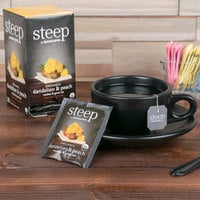 Steep By Bigelow Organic Dandelion and Peach Tea Bags - 20/Box
