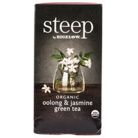 Steep By Bigelow Organic Oolong and Jasmine Green Tea Bags - 20/Box