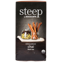 Steep By Bigelow Organic Chai Black Tea Bags - 20/Box