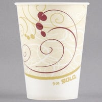 Solo R9N-J8000 Symphony 9 oz. Wax Treated Paper Cold Cup - 2000/Case