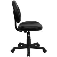 Flash Furniture BT-688-BK-GG Mid-Back Black Leather Ergonomic Office Chair / Task Chair