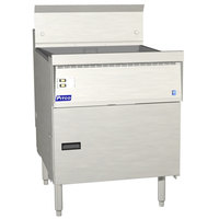 Pitco FBG18-D Natural Gas 42-65 lb. Flat Bottom Floor Fryer with Digital Controls - 100,000 BTU