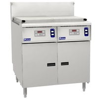 Pitco SRTG14-2-D Natural Gas 17.5 Gallon Two Section Commercial Rethermalizer with Digital Controls - 110,000 BTU