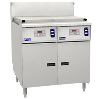 Pitco SRTG14-2-D Liquid Propane 17.5 Gallon Two Section Commercial Rethermalizer with Digital Controls - 110,000 BTU