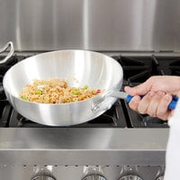 11 inch Aluminum Stir Fry Pan with Silicone Handle