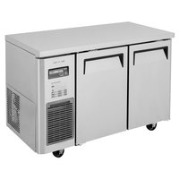 Turbo Air JUR-48S-N6 J Series 48 inch Narrow Depth Solid Door Undercounter Refrigerator with Side Mounted Compressor