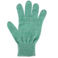San Jamar SG10-GN-M Green A7 Level Cut Resistant Glove with Dyneema - Medium