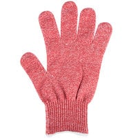 San Jamar SG10-RD-S Red A7 Level Cut Resistant Glove with Dyneema - Small
