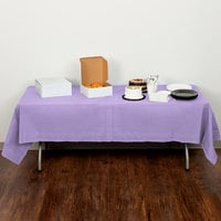 Creative Converting 710212 54 inch x 108 inch Luscious Lavender Purple Tissue / Poly Table Cover