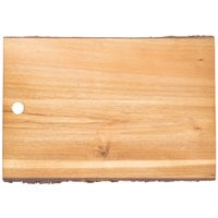 Tablecraft ACAR1812 Acacia Wood Rectangular Serving Board - 18 inch x 12 inch x 3/4 inch