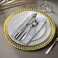 The Jay Companies 1182769 13 inch Round Gold Tiled Plastic Charger Plate