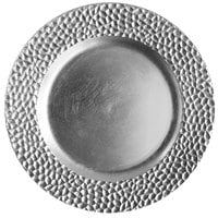 The Jay Companies 1182764 13 inch Round Silver Hammered Plastic Charger Plate