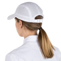 Headsweats White Customizable 5-Panel Chef Cap with Eventure Fabric and Terry Sweatband