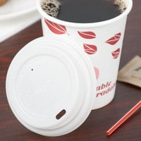 EcoChoice 8 oz. Tall White Compostable Paper Hot Cup Lid - 50/Pack