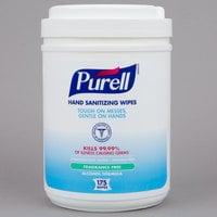 Purell® 9031-06 Alcohol Formulation Sanitizing Wipes 175 Count Canister - 6/Case