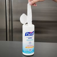 Purell® 9111-12 Sanitizing Wipes 100 Count Canister - 12/Case