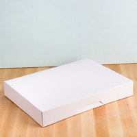 Baker's Mark 15 inch x 11 1/2 inch x 2 1/4 inch White Auto-Popup Donut / Bakery Box - 10/Pack