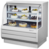 Turbo Air TCGB-48DR-W White 48 inch Curved Glass Dry Bakery Display Case