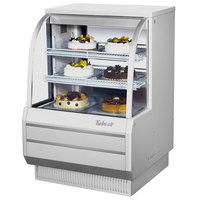 Turbo Air TCGB-36DR-W White 36 inch Curved Glass Dry Bakery Display Case