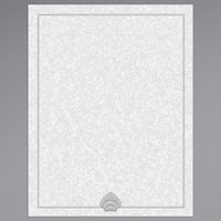 8 1/2 inch x 11 inch Menu Paper - Blue Shell Border - 100/Pack