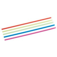 Choice 5 inch Neon Beverage Stirrer / Sip Straw - Case of 10000 (10 Boxes of 1000)