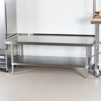 Advance Tabco ES-305 30 inch x 60 inch Stainless Steel Equipment Stand with Stainless Steel Undershelf