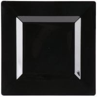 Visions Florence 8 inch Square Black Plastic Plate - 120/Case